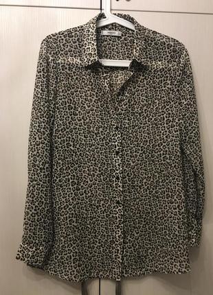 Блуза размер м леопардовый принт mango suit