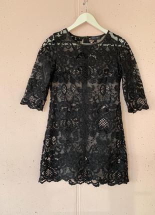 Платье прозрачное в узоры