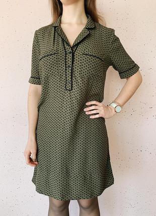 Платье блуза в пижамном стиле m&s