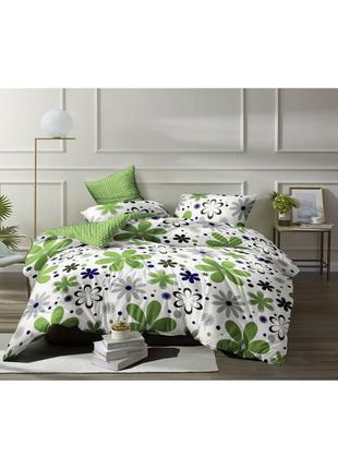 Комплект постельного белья, бязь, на резинке, ромашка