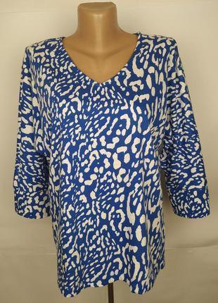 Блуза трикотажная хлопковая красивая от дорогого бренда jaeger...