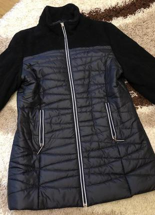 Скидка!!!куртка пальто,полупальто утеплённое куртка размер л-х...