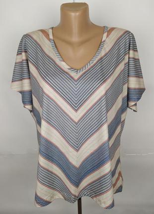 Блуза хлопковая красивая в геометрический принт v-образный выр...