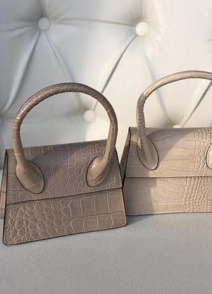 Маленькие кожаные сумочки в стиле jacquemus