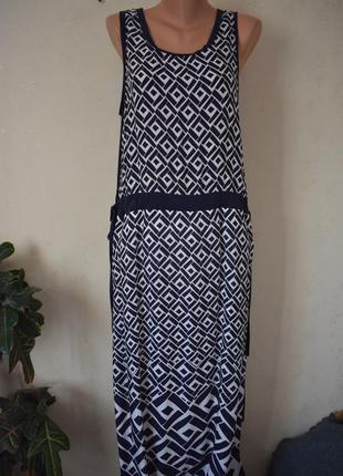 Новое длинное платье с принтом
