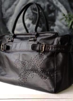Charlotte sparre. большая сумка из натуральной кожи.
