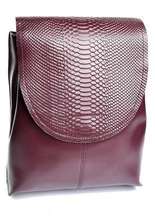 Женский кожаный рюкзак жіночий шкіряний