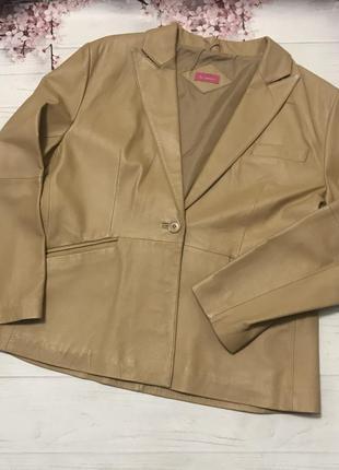 Пиджак кожаный модный