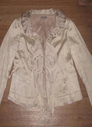 Льняной пиджак голландского бренда bandolera, в идеальном сост...