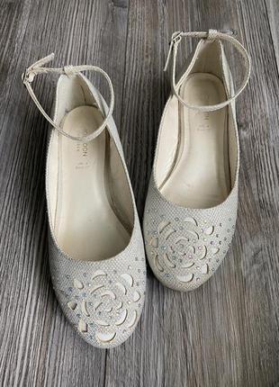 Балетки туфли блестящие monsoon 36-37