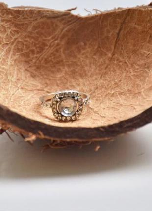 #кольцо под серебро #кольцо с камнем
