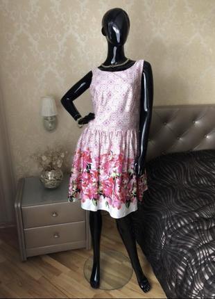 Платье/сарафан в цветы, размер 48-50