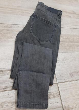 Крутые джинсы  minimum высокая посадка зауженные серые