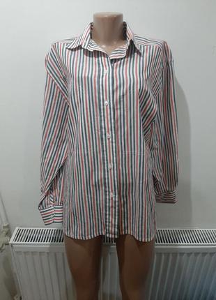 Рубашка в полоску котон батал