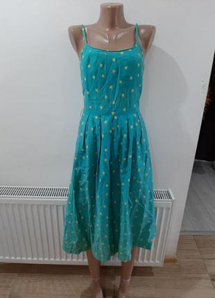 Платье сарафан в яблоко америка котон