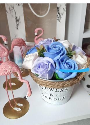 Подарочные набор мыло ручной работы букет розы
