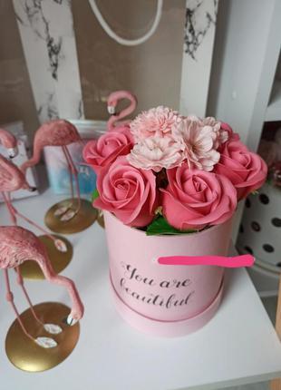 Мыло ручной работы букет розы подарочный набор
