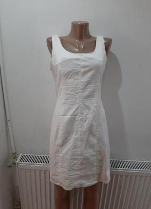Платье плотное котон сзади на змейке