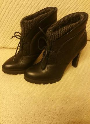 Ботинки, calvinkleinjeans, кожа - текстильная вставка, размер 41