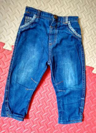 Утеплённые джинсы на трикотажной подкладке, рост 80-86