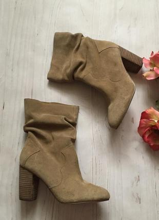 Стильные замшевые ботинки(38р)