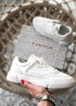 Шикарные женские кроссовки белый цвет (весна-лето-осень)😍