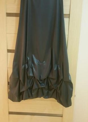 Only, оригинальная юбка- макси, размер м, цвет серый с металли...