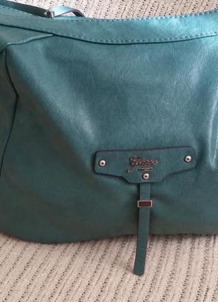 Guess, сумка, зеленого цвета