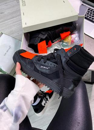 Мужские  кроссовки off-white low 3.0 leather high top - black ...