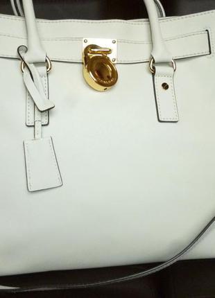 Шикарная большая  сумка из натуральной сафьяновой кожи michael...