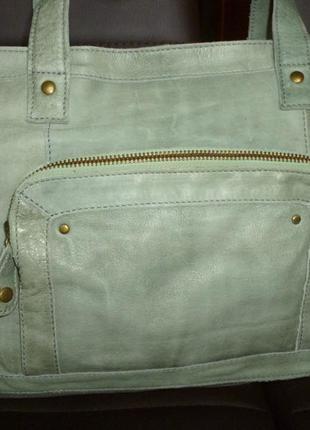 Стильная вместительная сумка натуральная мраморная кожа pieces