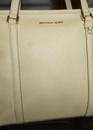 Большая  сумка из натуральной сафьяновой кожи michael kors