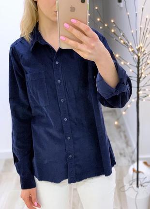 Вельветовая рубашка с длинным рукавом f&f