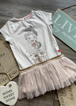 Платье туника с принцессой disney 1,5-2г