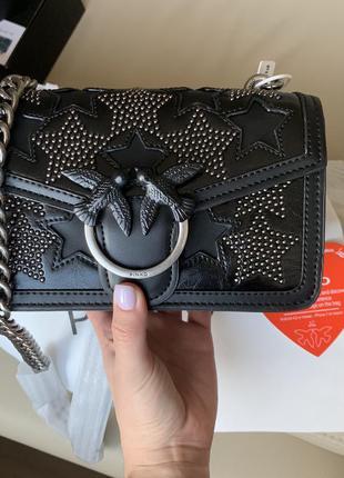 Pinko love bag stars mini клатч сумка