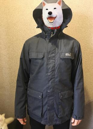 Куртка jack wolfskin ветровка серая