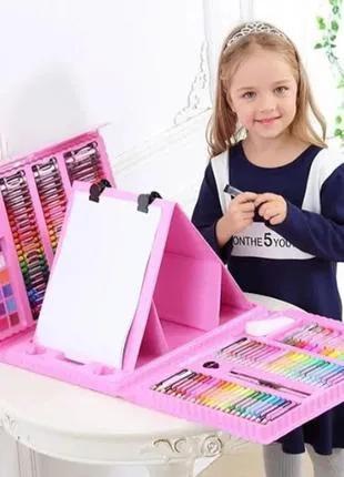 Художественный детский набор с мольбертом для рисования