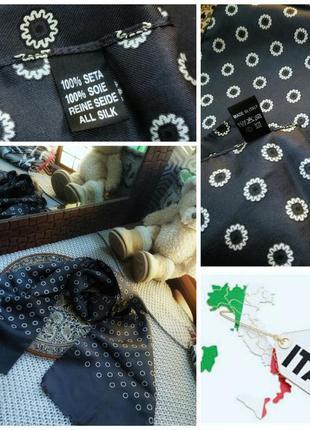 Стильный винтажный платок из 100 % шёлка