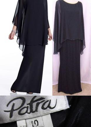 Вечернее платье *patra* с кейпом  из шифона, декорированным по...