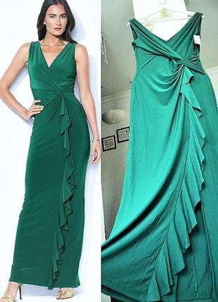 Платье вечернее ralph lauren на запах с  драпировкой и каскадн...
