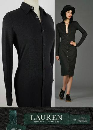 Элегантное универсальное платье рубашка ralph lauren с длинным...