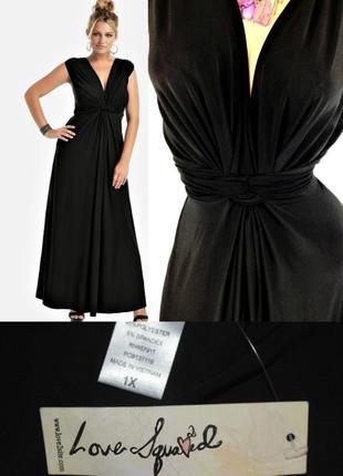 """Платье макси """"love squared"""" с v-образным вырезом , завышенной ..."""