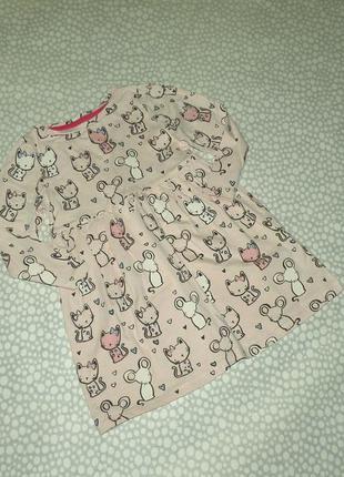 Платье котики 2-3 года