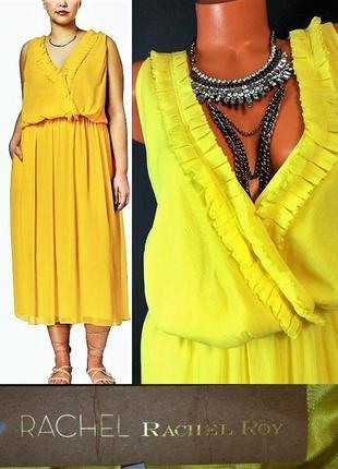Платье стиль бохо-шик*rachel roy* солнечного цвета с акцентной...