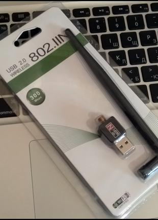 Wi-Fi 300Mbps 5dB USB 2.0 LAN сетевой адаптер вай - фай RTL8188 T