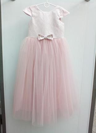 Детское платье пудровое