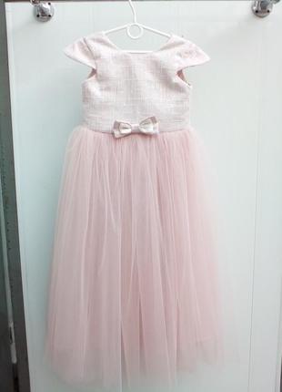 Детское платье пудра 5 лет