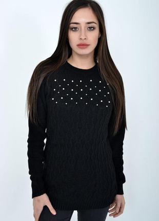Свитер женский цвет черный размер s-m