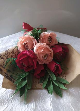 Букет из роз с конфетками