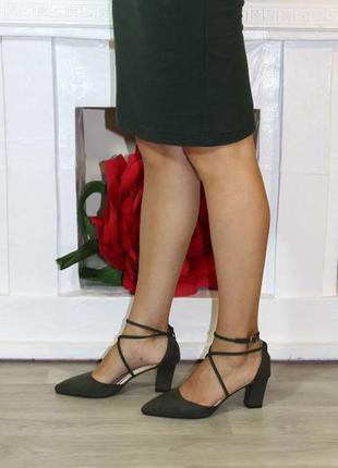 Туфли женские на устойчивом каблуке